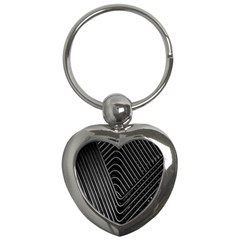 Chrome Abstract Pile Of Chrome Chairs Detail Key Chains (heart)  by Simbadda