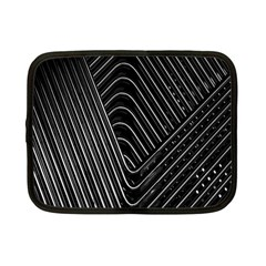 Chrome Abstract Pile Of Chrome Chairs Detail Netbook Case (small)  by Simbadda