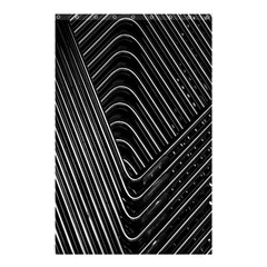 Chrome Abstract Pile Of Chrome Chairs Detail Shower Curtain 48  X 72  (small)  by Simbadda