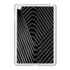 Chrome Abstract Pile Of Chrome Chairs Detail Apple Ipad Mini Case (white) by Simbadda