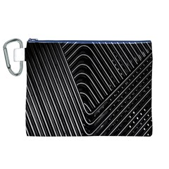Chrome Abstract Pile Of Chrome Chairs Detail Canvas Cosmetic Bag (xl) by Simbadda