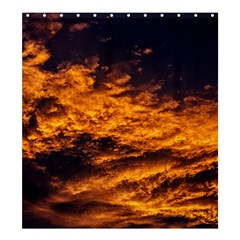 Abstract Orange Black Sunset Clouds Shower Curtain 66  X 72  (large)  by Simbadda