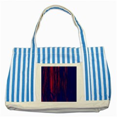 Abstract Color Red Blue Striped Blue Tote Bag by Simbadda