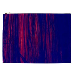 Abstract Color Red Blue Cosmetic Bag (xxl)  by Simbadda