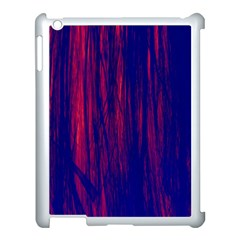 Abstract Color Red Blue Apple Ipad 3/4 Case (white) by Simbadda
