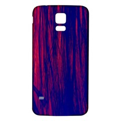 Abstract Color Red Blue Samsung Galaxy S5 Back Case (white) by Simbadda