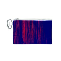 Abstract Color Red Blue Canvas Cosmetic Bag (s) by Simbadda