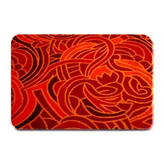 Orange Abstract Background Plate Mats