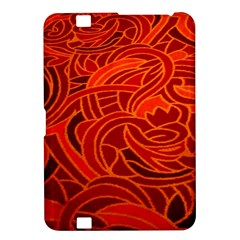 Orange Abstract Background Kindle Fire Hd 8 9  by Simbadda
