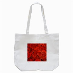 Orange Abstract Background Tote Bag (white) by Simbadda