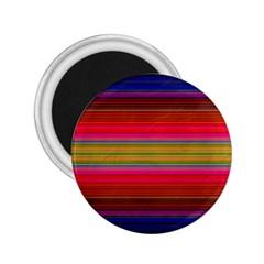 Fiesta Stripe Bright Colorful Neon Stripes Cinco De Mayo Background 2 25  Magnets by Simbadda