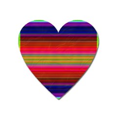 Fiesta Stripe Bright Colorful Neon Stripes Cinco De Mayo Background Heart Magnet by Simbadda