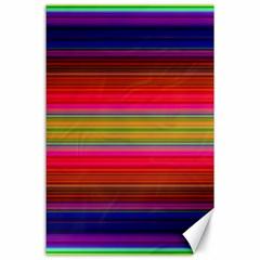 Fiesta Stripe Bright Colorful Neon Stripes Cinco De Mayo Background Canvas 24  X 36  by Simbadda