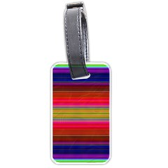 Fiesta Stripe Bright Colorful Neon Stripes Cinco De Mayo Background Luggage Tags (two Sides) by Simbadda