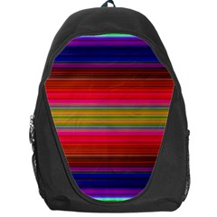 Fiesta Stripe Bright Colorful Neon Stripes Cinco De Mayo Background Backpack Bag by Simbadda