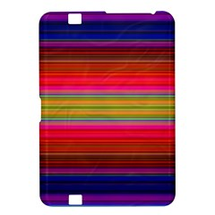 Fiesta Stripe Bright Colorful Neon Stripes Cinco De Mayo Background Kindle Fire Hd 8 9  by Simbadda