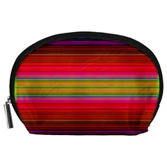 Fiesta Stripe Bright Colorful Neon Stripes Cinco De Mayo Background Accessory Pouches (Large)