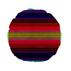 Fiesta Stripe Bright Colorful Neon Stripes Cinco De Mayo Background Standard 15  Premium Flano Round Cushions