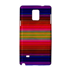 Fiesta Stripe Bright Colorful Neon Stripes Cinco De Mayo Background Samsung Galaxy Note 4 Hardshell Case by Simbadda