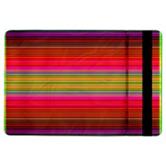 Fiesta Stripe Bright Colorful Neon Stripes Cinco De Mayo Background Ipad Air 2 Flip