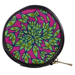 Big Growth Abstract Floral Texture Mini Makeup Bags by Simbadda