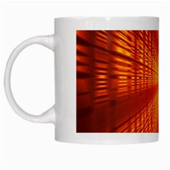 Abstract Wallpaper With Glowing Light White Mugs by Simbadda