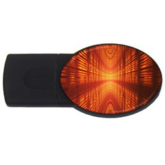 Abstract Wallpaper With Glowing Light Usb Flash Drive Oval (2 Gb) by Simbadda