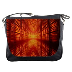 Abstract Wallpaper With Glowing Light Messenger Bags