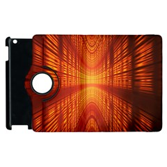 Abstract Wallpaper With Glowing Light Apple Ipad 2 Flip 360 Case by Simbadda