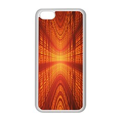 Abstract Wallpaper With Glowing Light Apple Iphone 5c Seamless Case (white) by Simbadda