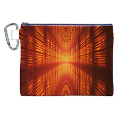 Abstract Wallpaper With Glowing Light Canvas Cosmetic Bag (xxl) by Simbadda