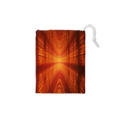 Abstract Wallpaper With Glowing Light Drawstring Pouches (xs)  by Simbadda