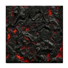 Volcanic Lava Background Effect Tile Coasters