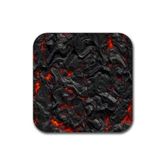 Volcanic Lava Background Effect Rubber Coaster (square)  by Simbadda