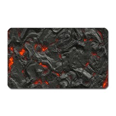 Volcanic Lava Background Effect Magnet (rectangular) by Simbadda