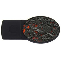 Volcanic Lava Background Effect Usb Flash Drive Oval (4 Gb)