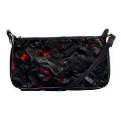 Volcanic Lava Background Effect Shoulder Clutch Bags by Simbadda