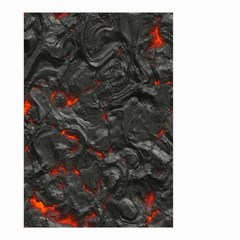 Volcanic Lava Background Effect Small Garden Flag (two Sides) by Simbadda