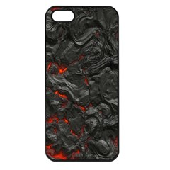Volcanic Lava Background Effect Apple Iphone 5 Seamless Case (black) by Simbadda