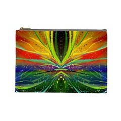 Future Abstract Desktop Wallpaper Cosmetic Bag (large)  by Simbadda
