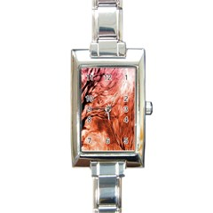 Fire In The Forest Artistic Reproduction Of A Forest Photo Rectangle Italian Charm Watch by Simbadda