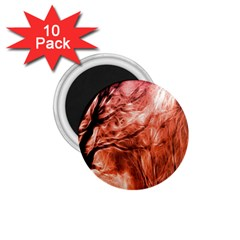 Fire In The Forest Artistic Reproduction Of A Forest Photo 1 75  Magnets (10 Pack)  by Simbadda