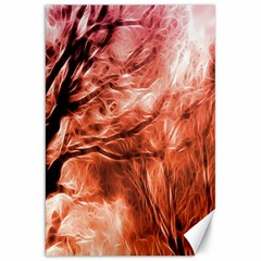 Fire In The Forest Artistic Reproduction Of A Forest Photo Canvas 20  X 30   by Simbadda