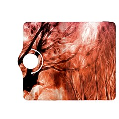 Fire In The Forest Artistic Reproduction Of A Forest Photo Kindle Fire Hdx 8 9  Flip 360 Case by Simbadda