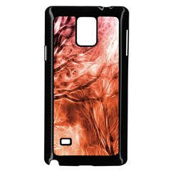 Fire In The Forest Artistic Reproduction Of A Forest Photo Samsung Galaxy Note 4 Case (black) by Simbadda