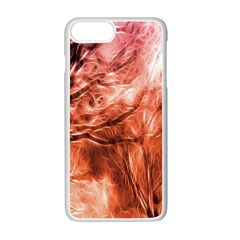 Fire In The Forest Artistic Reproduction Of A Forest Photo Apple iPhone 7 Plus White Seamless Case by Simbadda