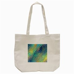 Colorful Patterned Glass Texture Background Tote Bag (cream) by Simbadda