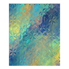Colorful Patterned Glass Texture Background Shower Curtain 60  X 72  (medium)  by Simbadda