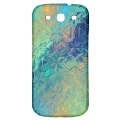 Colorful Patterned Glass Texture Background Samsung Galaxy S3 S Iii Classic Hardshell Back Case by Simbadda
