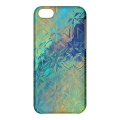 Colorful Patterned Glass Texture Background Apple Iphone 5c Hardshell Case by Simbadda